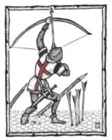 GREETING CARD `English Archer - Volley`
